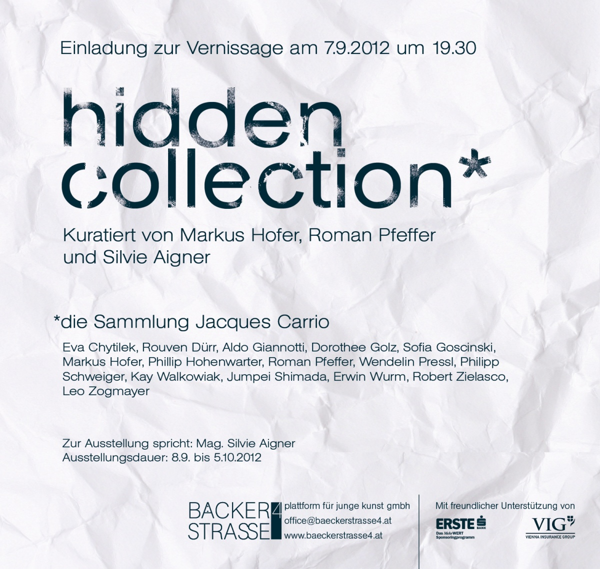 Einladung Hidden Collection
